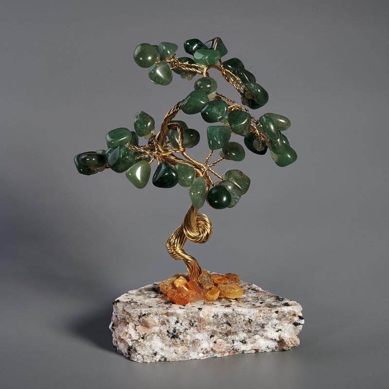 Поделки камень с деревом