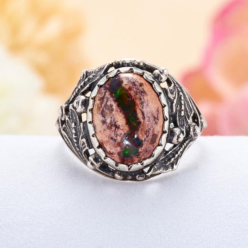 Кольцо опал благородный  (серебро 925 пр.) размер 17,5