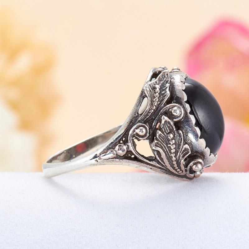 [del] Кольцо гранат Индия (серебро 925 пр.) размер 17