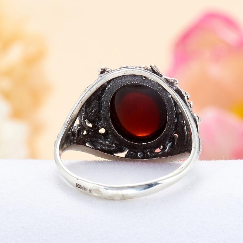 [del] Кольцо гранат Индия (серебро 925 пр.) размер 18,5