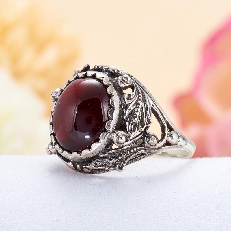 [del] Кольцо гранат Индия (серебро 925 пр.) размер 21,5