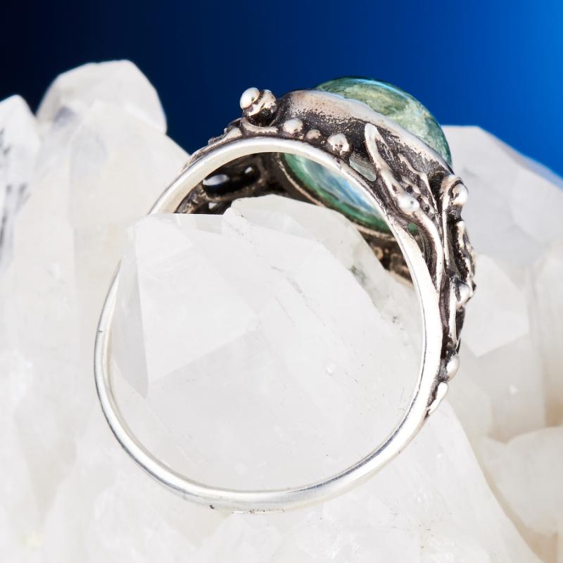 [del] Кольцо аквамарин Россия (серебро 925 пр.) размер 19,5