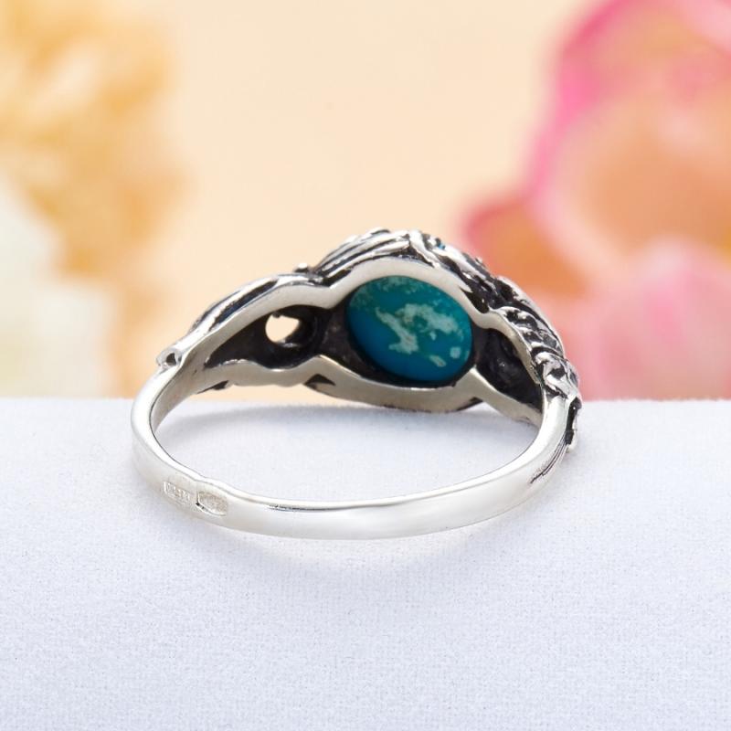 [del] Кольцо бирюза Тибет (серебро 925 пр.) размер 19
