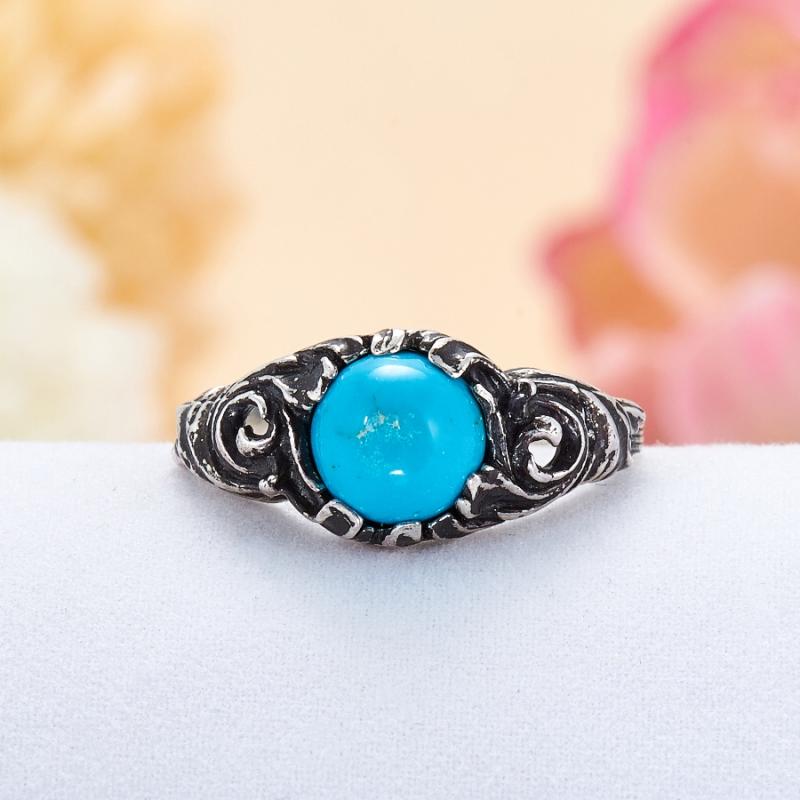 Кольцо бирюза Тибет (серебро 925 пр.) размер 18,5