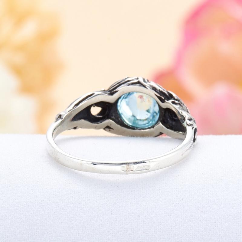 [del] Кольцо аквамарин Россия (серебро 925 пр.) размер 22