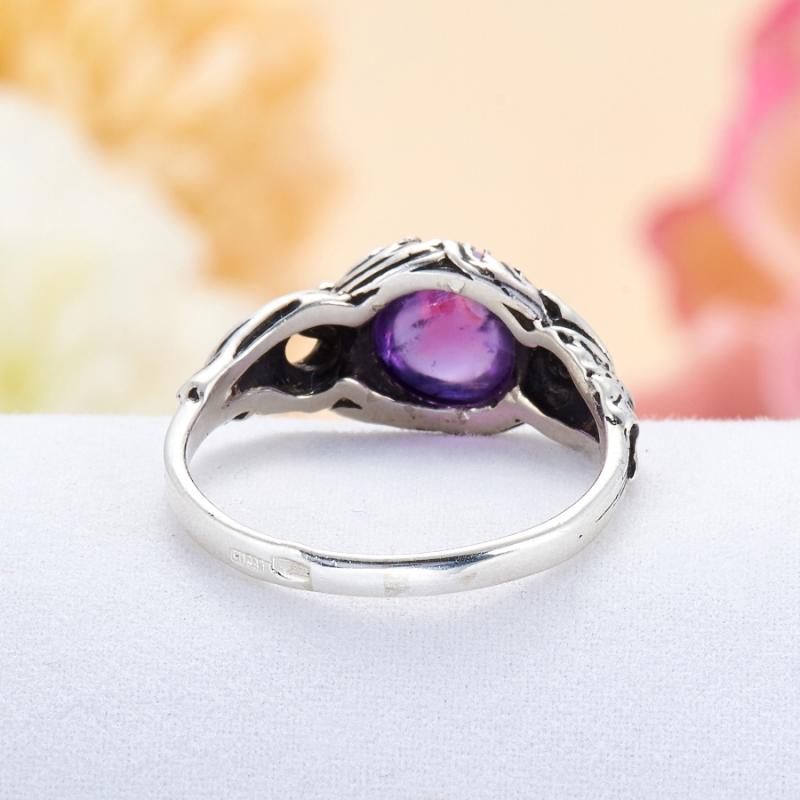 [del] Кольцо аметист Бразилия (серебро 925 пр.) размер 19