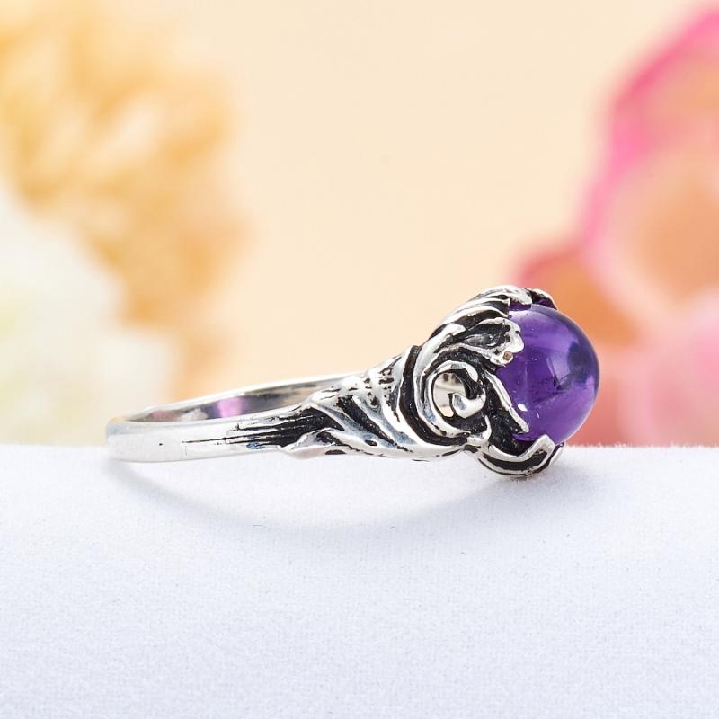 [del] Кольцо аметист Бразилия (серебро 925 пр.) размер 19,5