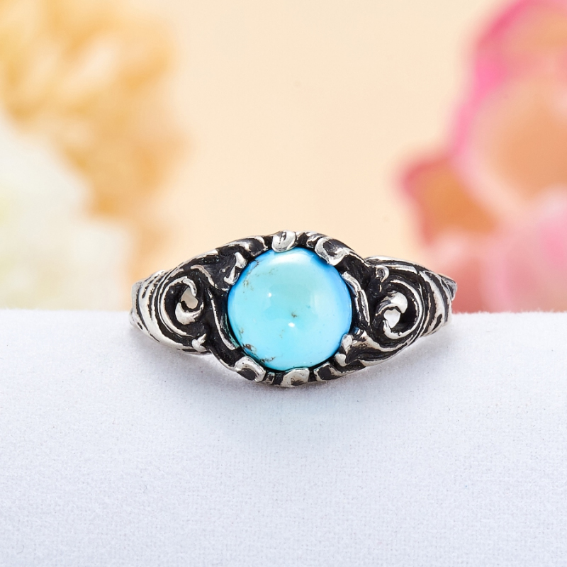 [del] Кольцо бирюза Казахстан (серебро 925 пр.) размер 18