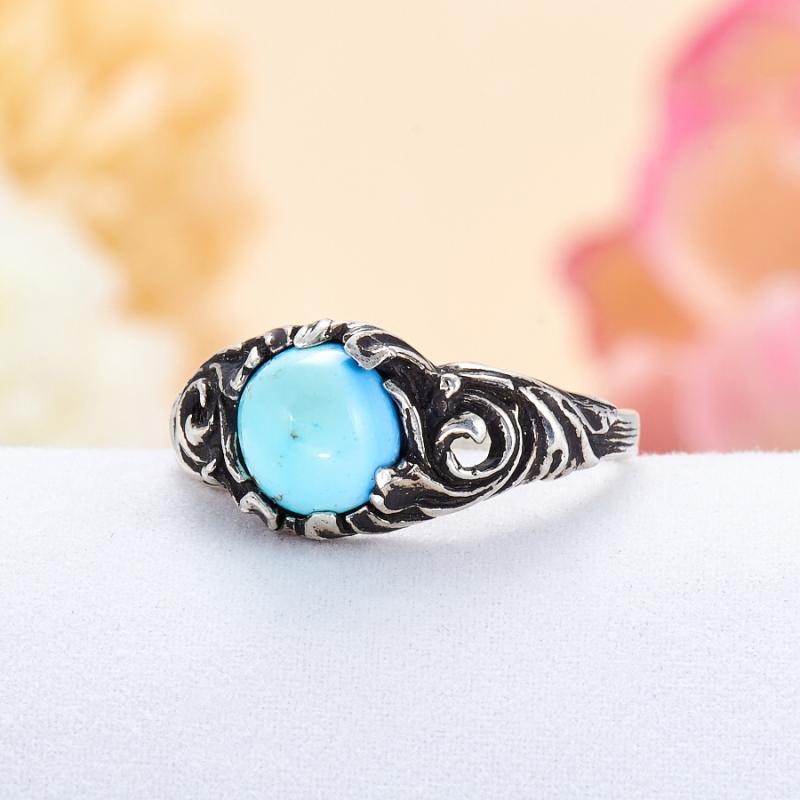 [del] Кольцо бирюза Казахстан (серебро 925 пр.) размер 18,5