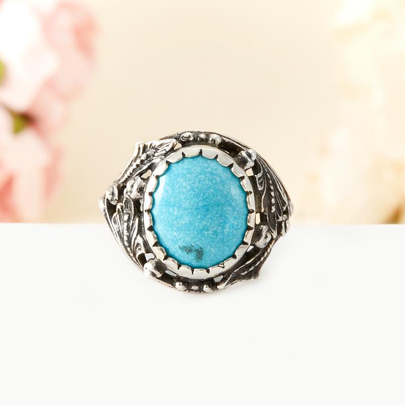 [del] Кольцо бирюза Тибет (серебро 925 пр.) размер 15,5