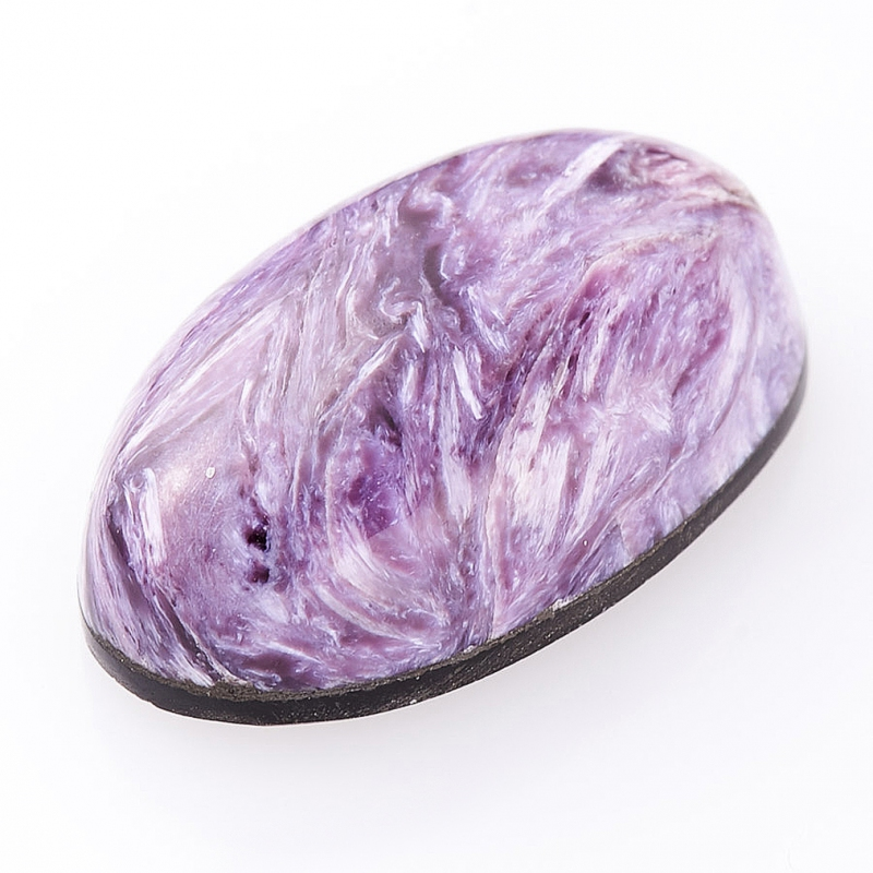 Кабошон чароит  (дублет) 10*17.5 мм
