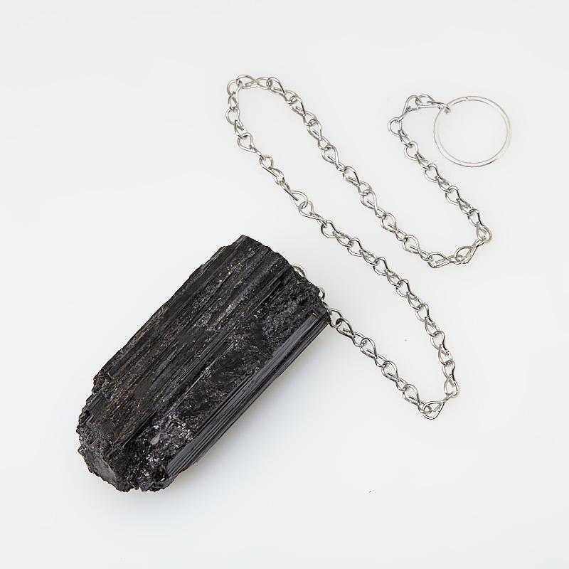 Маятник турмалин черный (шерл) Бразилия (кристалл) (биж. сплав)
