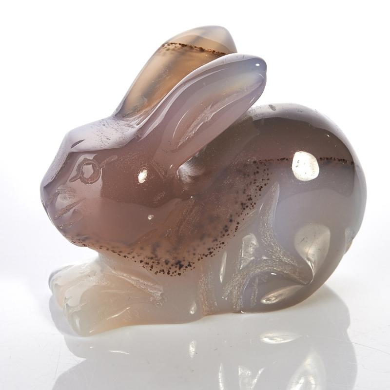 Кролик агат серый 4,5-5 см стеклянная вставка ceramica classic мармара пальмира комплект серый 3шт компл 5 5х16 5 см