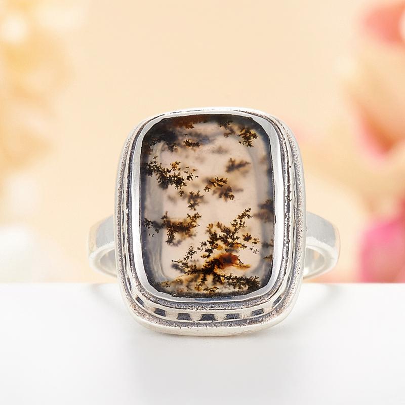 [del] Кольцо агат моховой Казахстан (серебро 925 пр.) размер 15