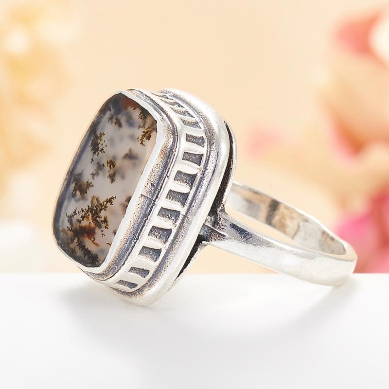 [del] Кольцо агат моховой Казахстан (серебро 925 пр.) размер 23