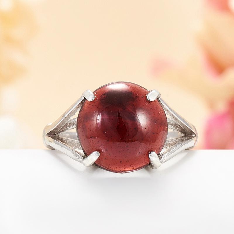 [del] Кольцо гранат альмандин Индия (серебро 925 пр.) размер 17,5