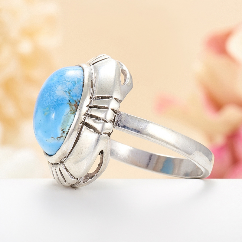 [del] Кольцо бирюза Казахстан (серебро 925 пр.) размер 20