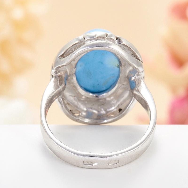 [del] Кольцо бирюза Казахстан (серебро 925 пр.) размер 22