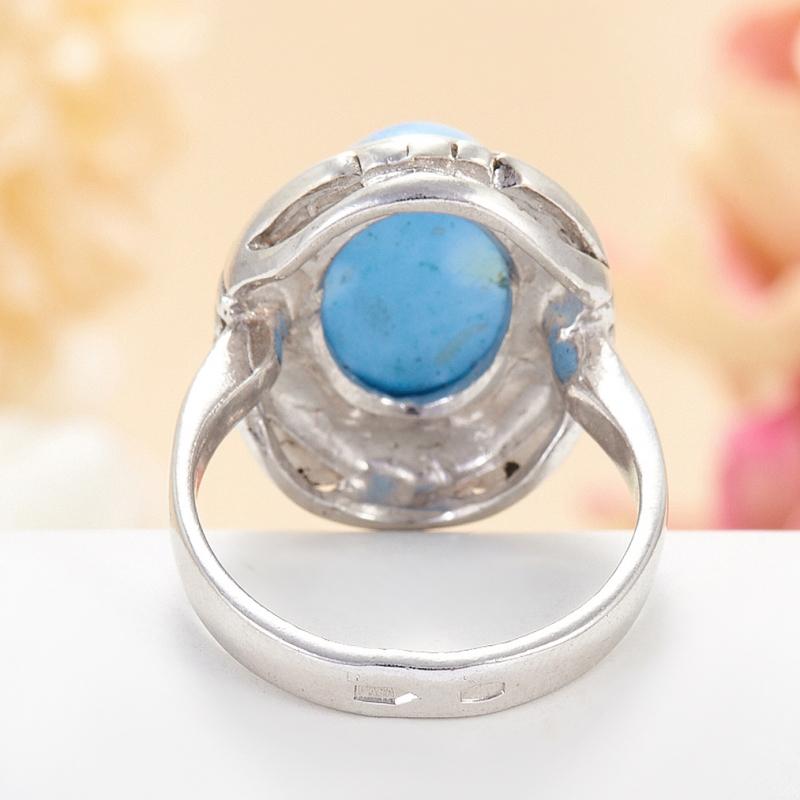 [del] Кольцо бирюза Казахстан (серебро 925 пр.) размер 24