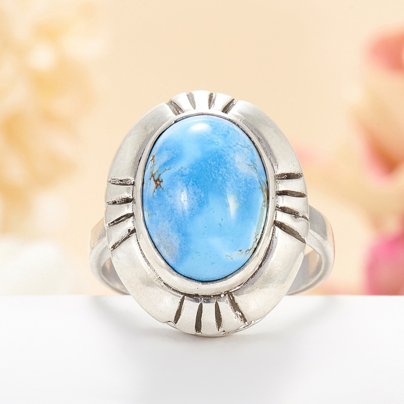 [del] Кольцо бирюза Казахстан (серебро 925 пр.) размер 24,5