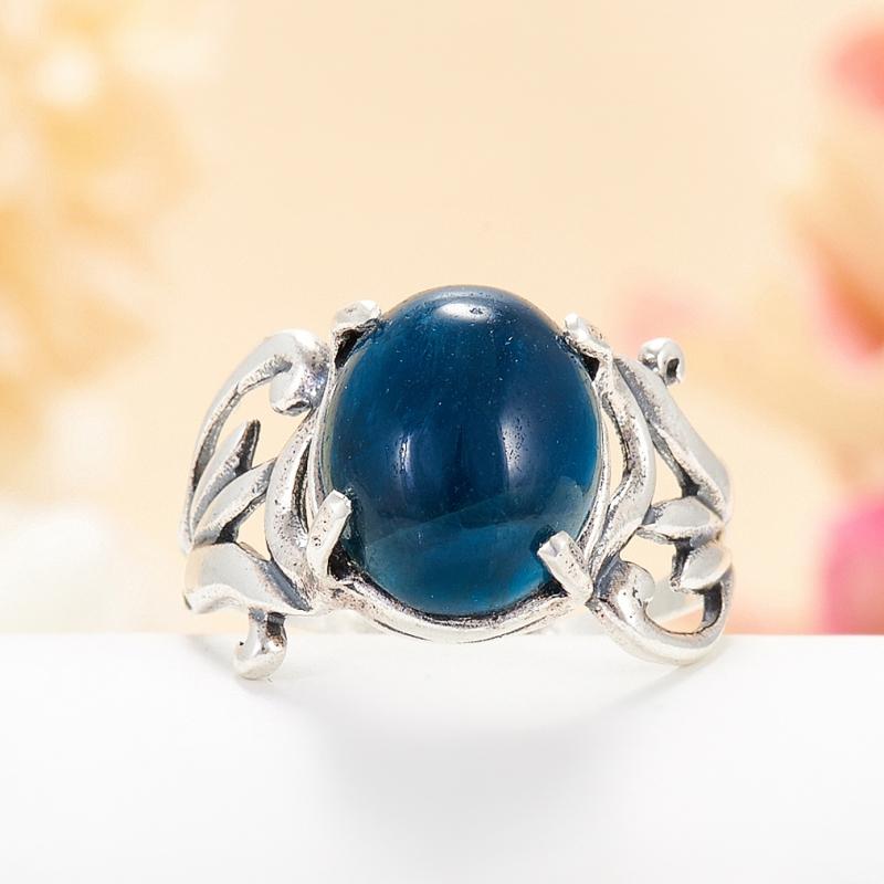 [del] Кольцо апатит синий Бразилия (серебро 925 пр.) размер 14