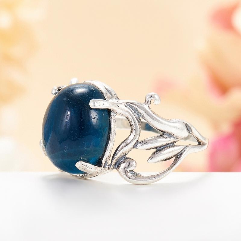 [del] Кольцо апатит синий Бразилия (серебро 925 пр.) размер 18