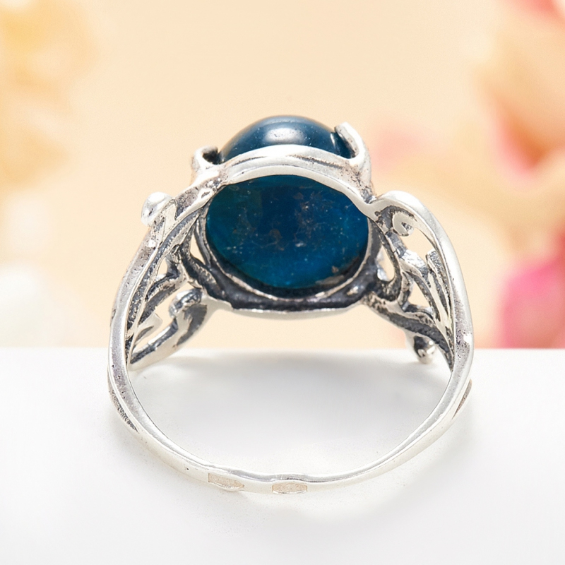 [del] Кольцо апатит синий Бразилия (серебро 925 пр.) размер 24