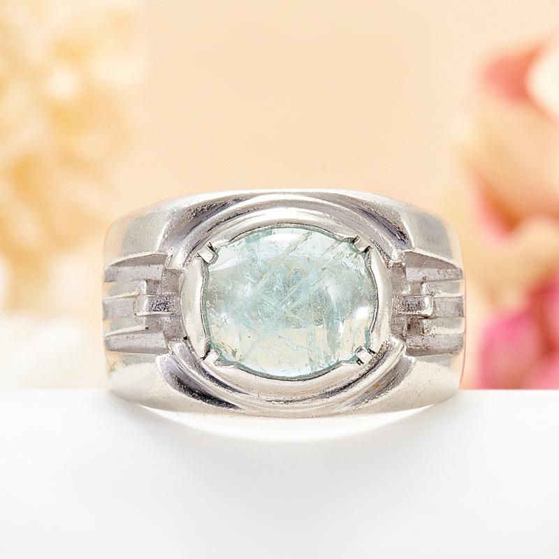 [del] Кольцо аквамарин Россия (серебро 925 пр.) размер 15,5