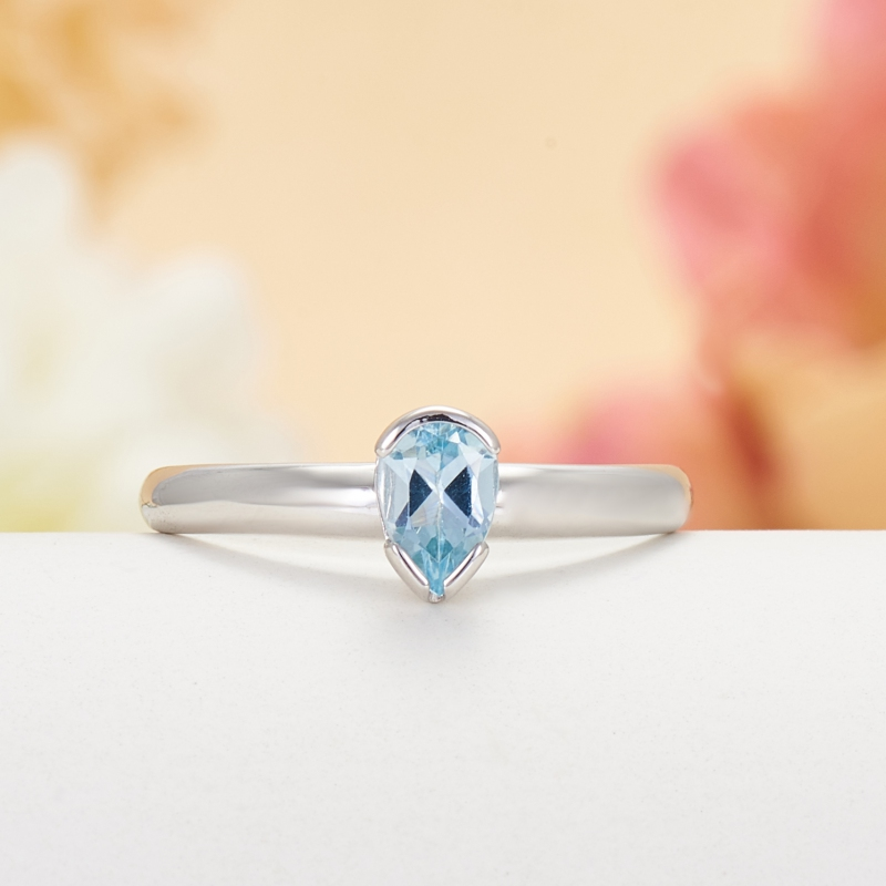 Кольцо топаз голубой огранка (серебро 925 пр.) размер 17,5 кольцо коюз топаз кольцо т102017974 лл