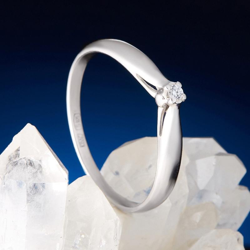 Кольцо бриллиант Россия огранка (серебро 925 пр.) размер 20,5
