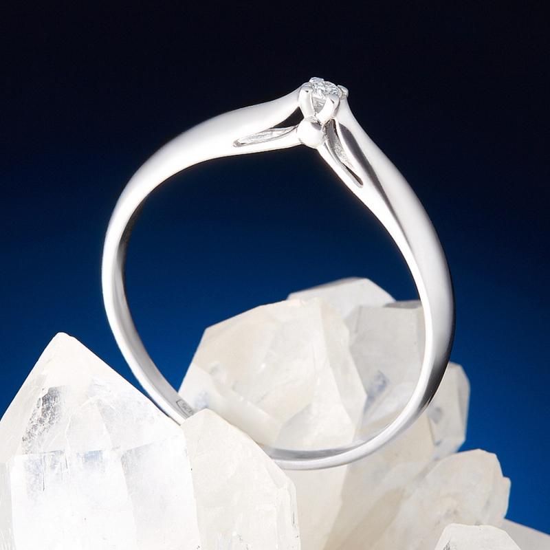 Кольцо бриллиант Россия огранка (серебро 925 пр.) размер 25