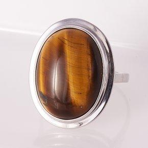 Кольцо тигровый глаз ЮАР (серебро 925 пр.) размер 18,5