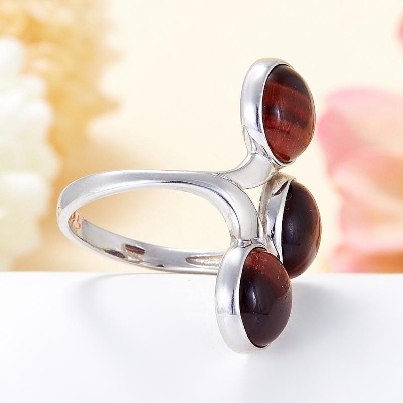 Кольцо бычий глаз ЮАР (серебро 925 пр.) размер 14