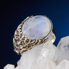 Кольцо лунный камень Индия (серебро 925 пр., позолота) размер 18
