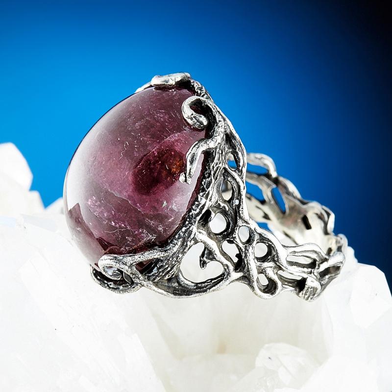 Кольцо турмалин розовый  (серебро 925 пр.) размер 18