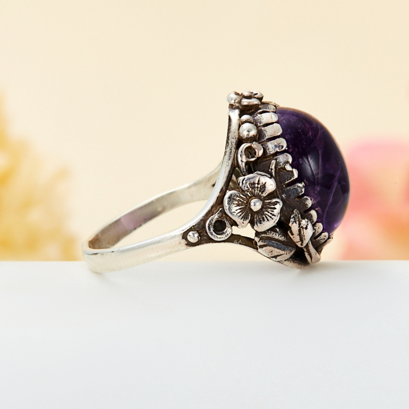 [del] Кольцо аметист Бразилия (серебро 925 пр.) размер 23