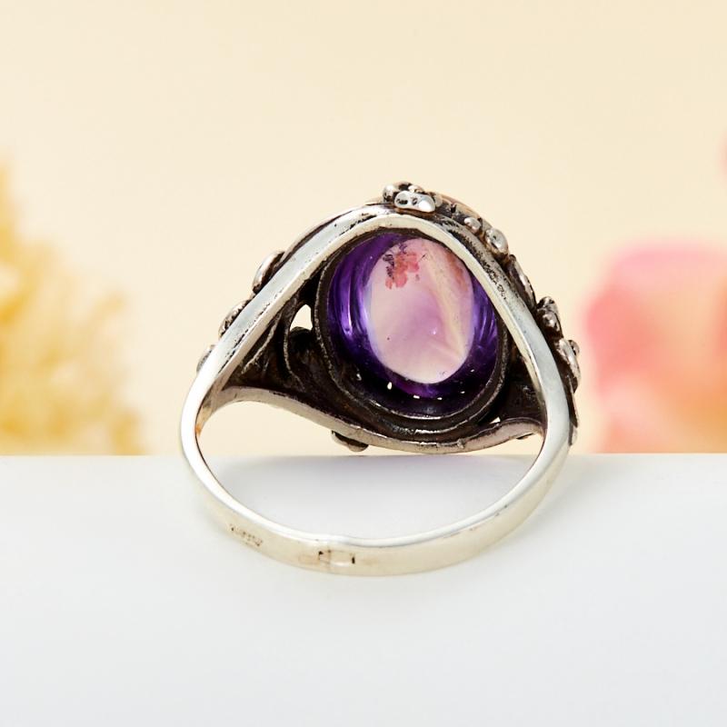 [del] Кольцо аметист Бразилия (серебро 925 пр.) размер 25