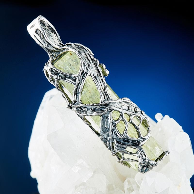 Кулон берилл гелиодор Россия огранка (серебро 925 пр., позолота)