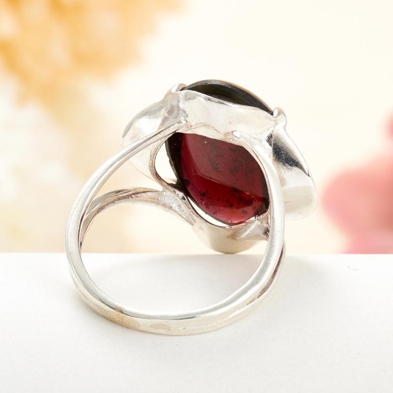 [del] Кольцо гранат альмандин Индия (серебро 925 пр.) размер 22,5