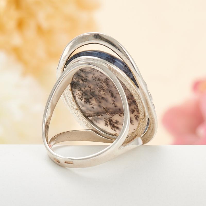 [del] Кольцо агат моховой Казахстан (серебро 925 пр.) размер 14,5