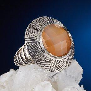 Кольцо сердолик Ботсвана огранка (серебро 925 пр.) размер 18,5