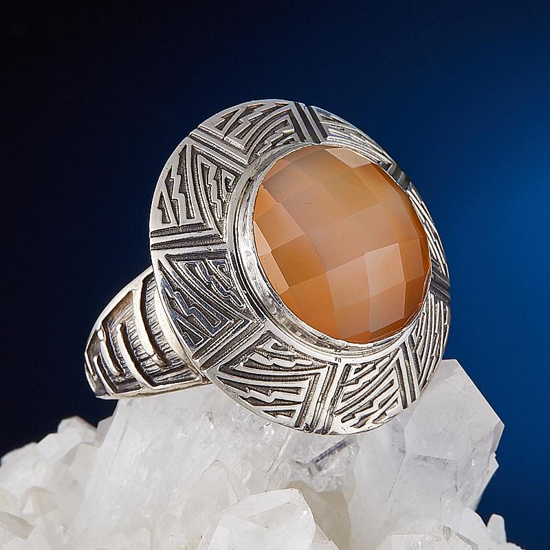 Кольцо сердолик огранка (серебро 925 пр.) размер 18,5