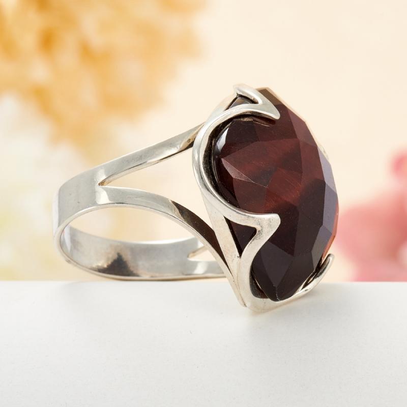[del] Кольцо бычий глаз ЮАР огранка (серебро 925 пр.) размер 25