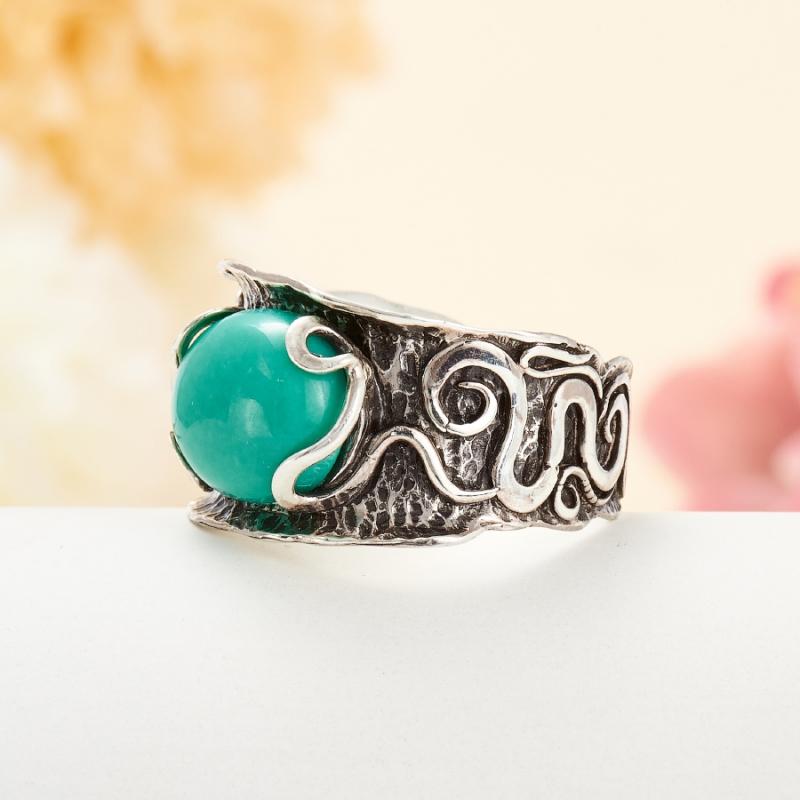 [del] Кольцо бирюза Тибет (серебро 925 пр.) размер 21
