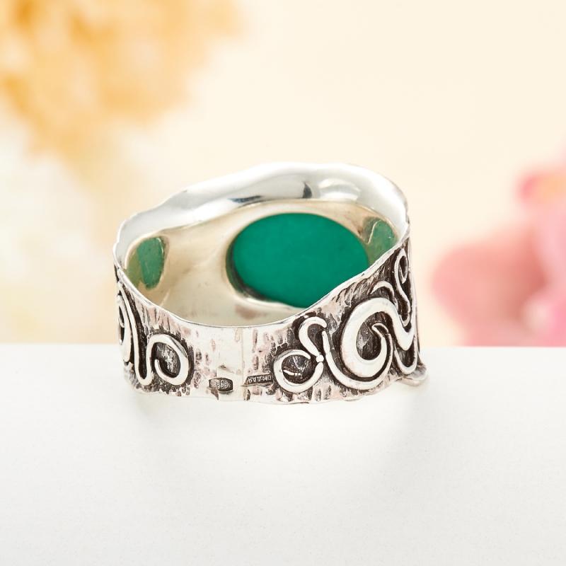 [del] Кольцо бирюза Тибет (серебро 925 пр.) размер 25