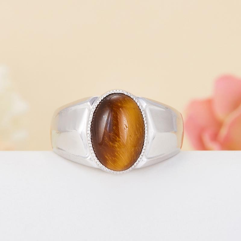 Кольцо тигровый глаз  (серебро 925 пр.) размер 21,5 кольцо сальвия тигровый глаз