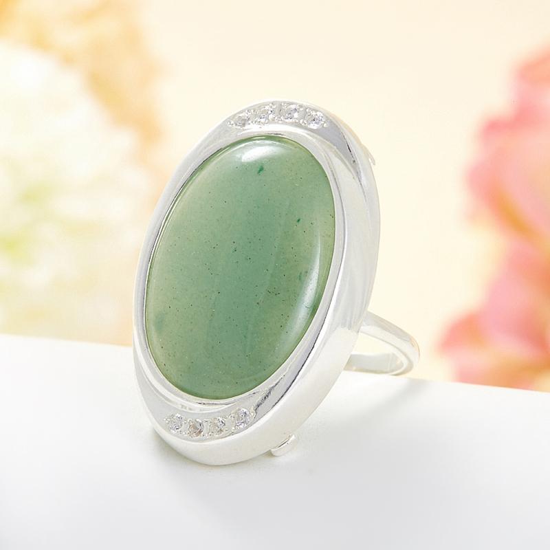 Кольцо авантюрин зеленый  (серебро 925 пр.) размер 18 кольцо авантюрин серебро 925 пр размер 21 5