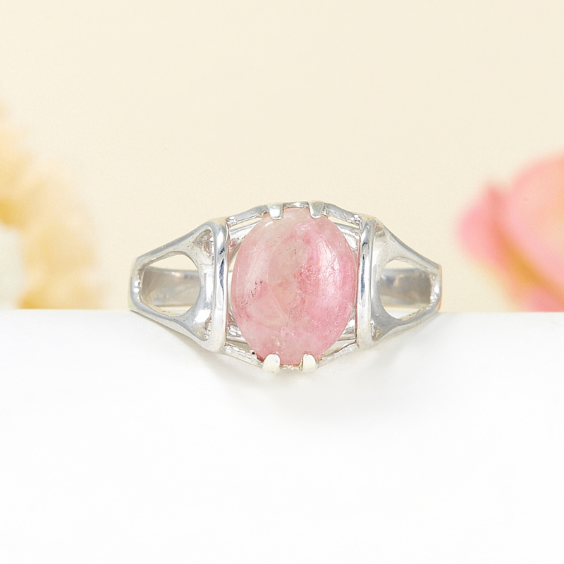 Кольцо турмалин розовый  (серебро 925 пр.) размер 20
