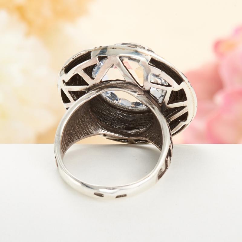 [del] Кольцо горный хрусталь Бразилия огранка (серебро 925 пр.) размер 14,5