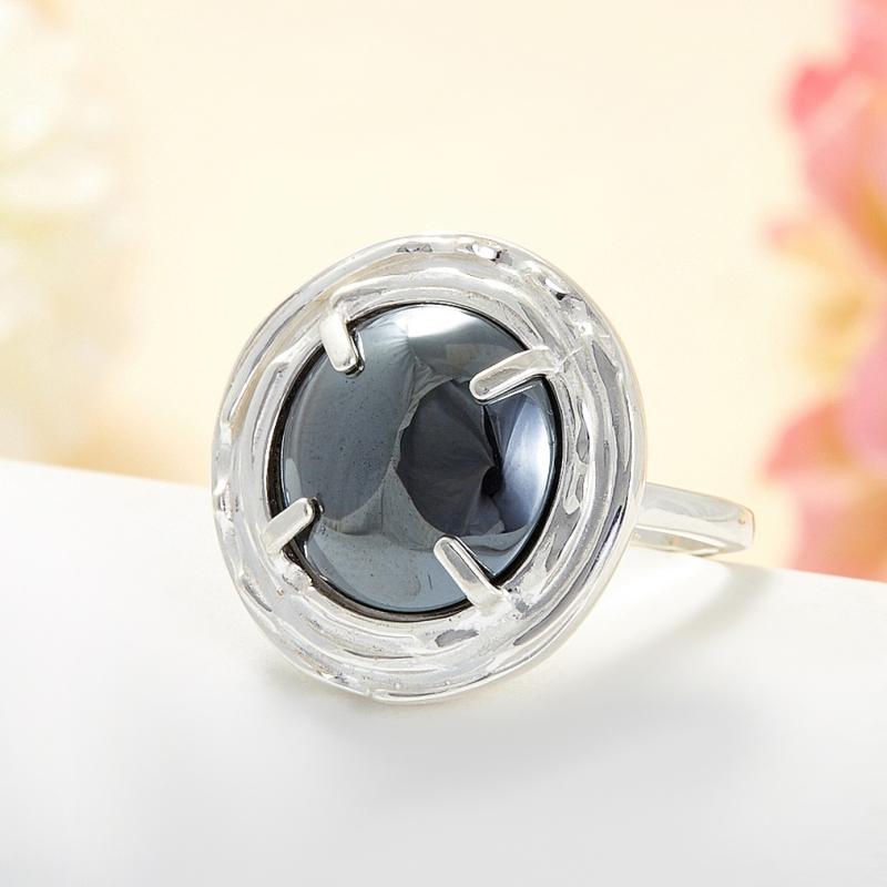 Кольцо гематит Бразилия (серебро 925 пр.) размер 22,5